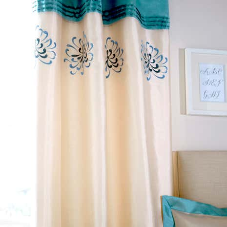 Teal Kiera Curtains
