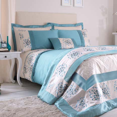 Teal Kiera Duvet Cover