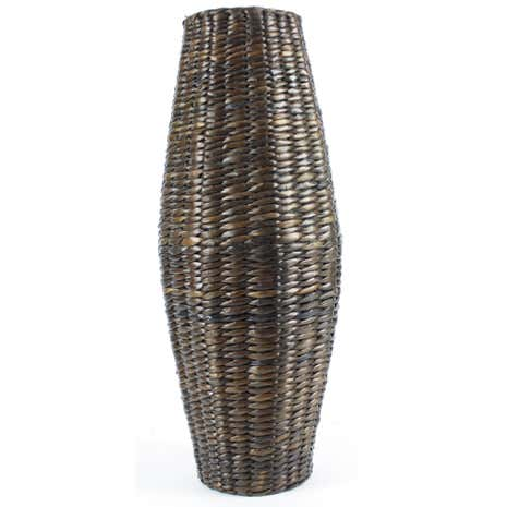 Brown Cattail Vase