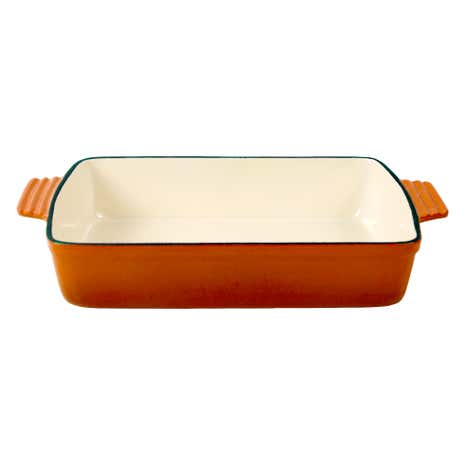Orange Spectrum Cast Iron Rectangular Roaster