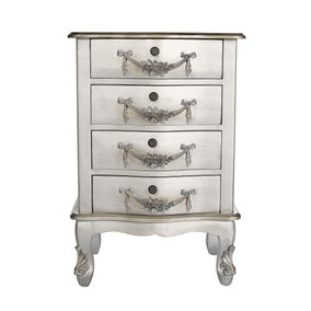 Toulouse Silver 4 Drawer Chest