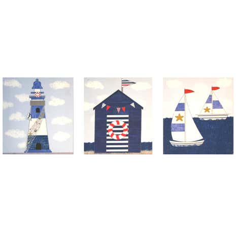 Coastal Set of 3 Canvases