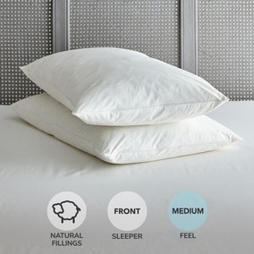 Duck Feather Soft-Support Pillow Pair