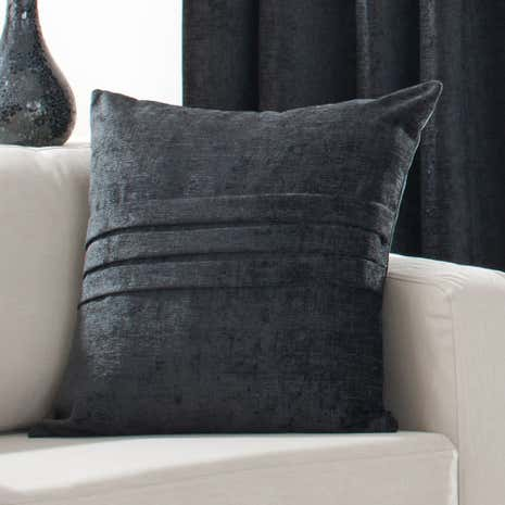Black Chenille Cushion
