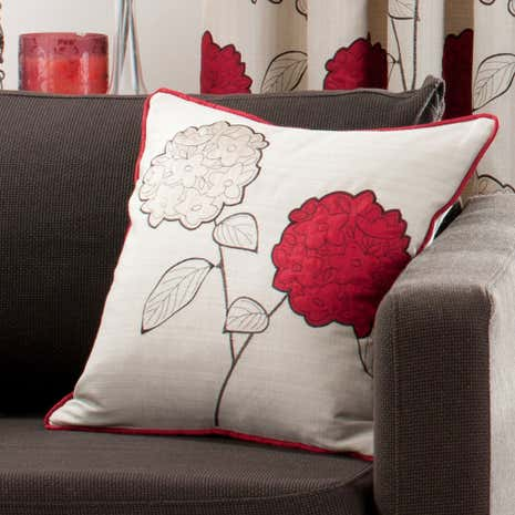 Red Louisa Square Cushion