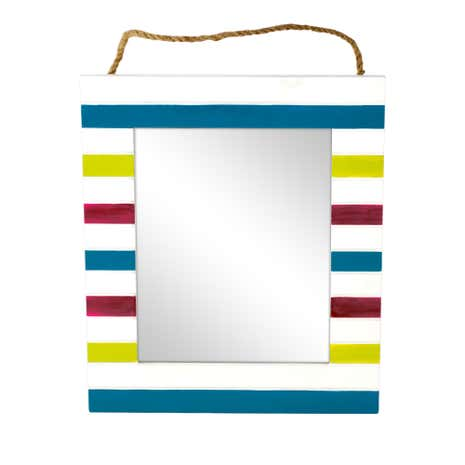 Haven Brights Striped Photo Mirror
