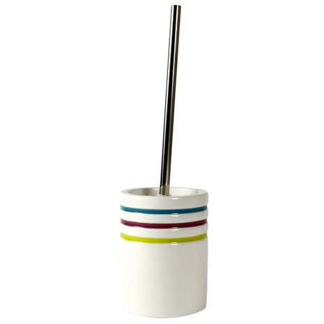 Haven Brights Striped Toilet Brush Holder