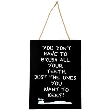 Brush Your Teeth Hanging Sign