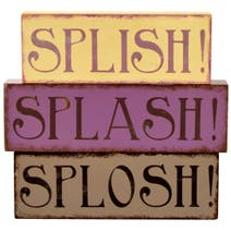 Splish Splash Wooden Word Blocks