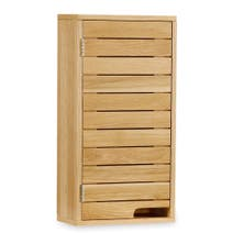 Milan Oak Slatted Wall Unit