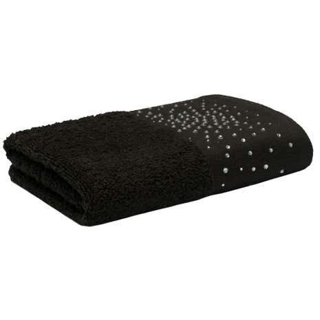 Diamante Jewel Black Towel