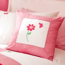 Kids Cerise Flower Garden Cushion