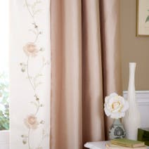 Rosa Gold Thermal Lined Pencil Pleat Curtains