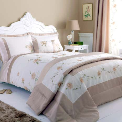 Rosa Gold Duvet Cover