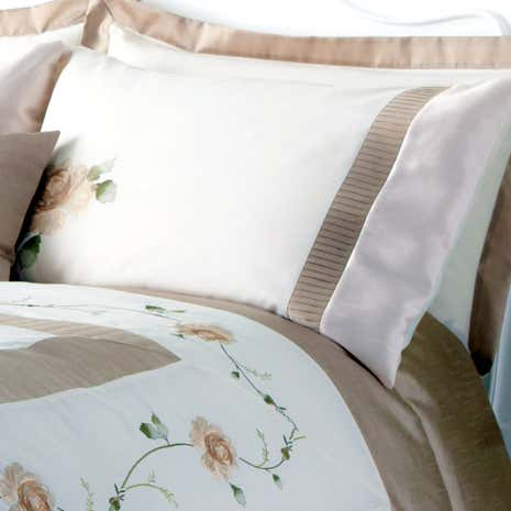 Gold Rosa Housewife Pillowcase