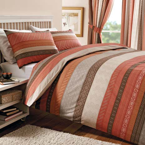 Mizar Terracotta Duvet Cover Set