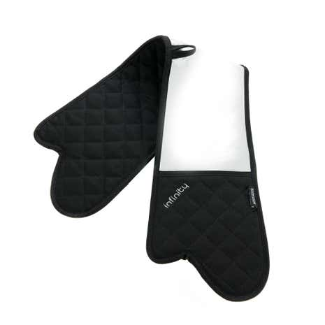 Cookshop Infinity Black Double Oven Glove