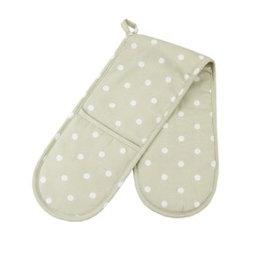 Sage Dotty Double Oven Glove