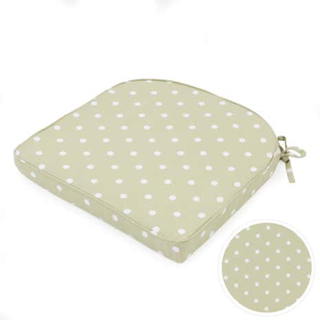 sage dotty seat pad dunelm. Black Bedroom Furniture Sets. Home Design Ideas