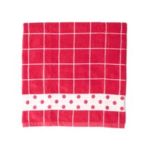 Grid Printed Hand Towel