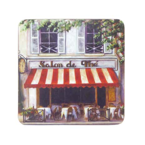 Cafe Scene Set of 6 Coasters