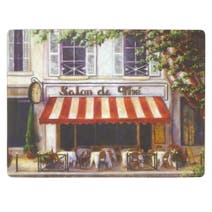 Cafe Scene Set of 6 Placemats