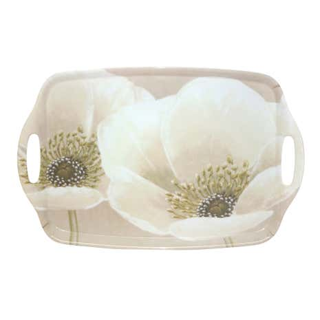 Neutral Flower Large Handled Tea Tray