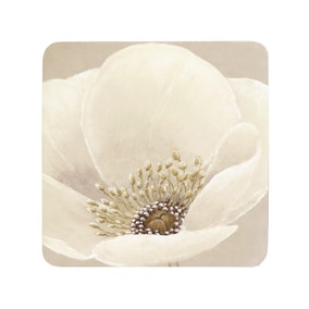 Neutral Flower Set of 6 Coasters