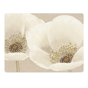Neutral Flower Set of 6 Placemats