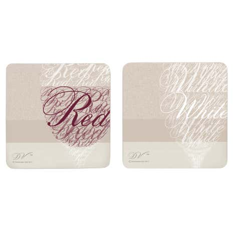 Wine Square Set of 4 Coasters