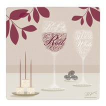Wine Square Set of 4 Placemats