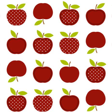 Red Apples PVC Fabric