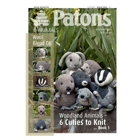 Patons Wool Blend Woodland Animals One Knitting Book