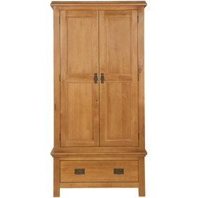 Dorchester Oak Double Wardrobe With 1 Drawer