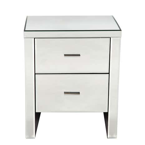 Mirror side table worlds away dylan side table found on for Mirror bedside cabinets