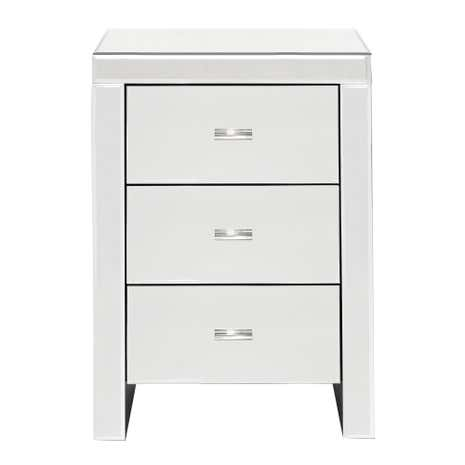 Venetian Mirrored 3 Drawer Chest