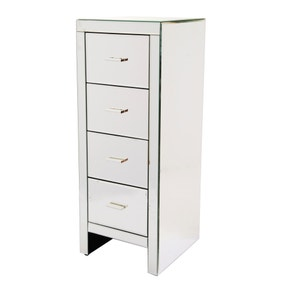 Venetian Mirrored 4 Drawer Tallboy