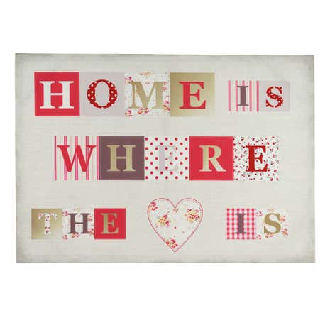 Home Is Where The Heart Is Printed Canvas