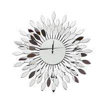 Mirror Starburst Wall Clock