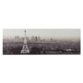 Paris Night Scene Printed Canvas