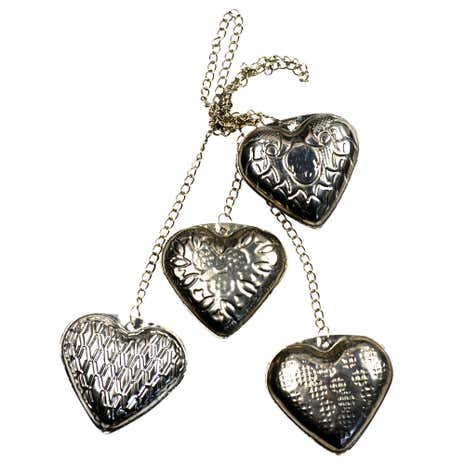 Burnt Sienna Metal Hearts Chain
