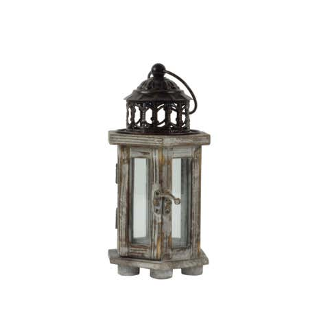 Burnt Sienna Wooden Lantern