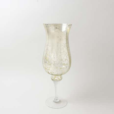 New Naturals Mottled Glass Hurricane Vase