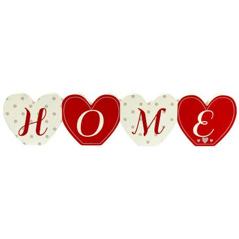Ruby Wooden Home Word Ornament