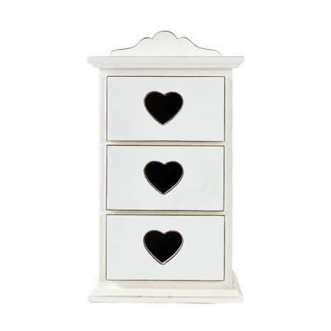 Vintage Set of 3 Heart Drawers