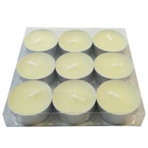 Home Fragrance Pack of 9 Soft Linen and Lace Scented Tea Lights