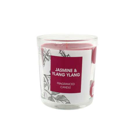 Home Fragrance Jasmine and Ylang Ylang Glass Candle