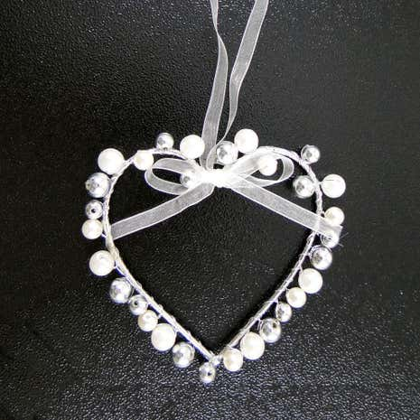 Wedding Bead Heart Hanger