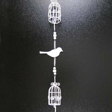 Wedding Metal Bird and Birdcage Garland