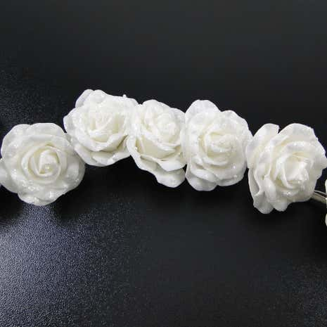 Wedding Glitter and Bead Rose Garland